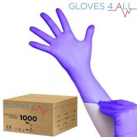 Jednorázové nitrilové rukavice modro-fialové S - karton 10ks (VP)