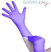 Jednorázové nitrilové rukavice modro-fialové - velikost M (VP)