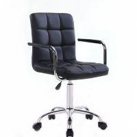 Kosmetická židle na kolečkách HC-1015KP černá (V)
