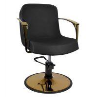 GABBIANO Kadeřnická židle zlatá BOLONIA - černá