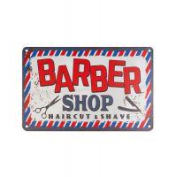 Plechová retro cedule Barbershop B002
