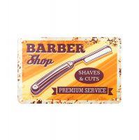 Plechová retro cedule Barbershop B012