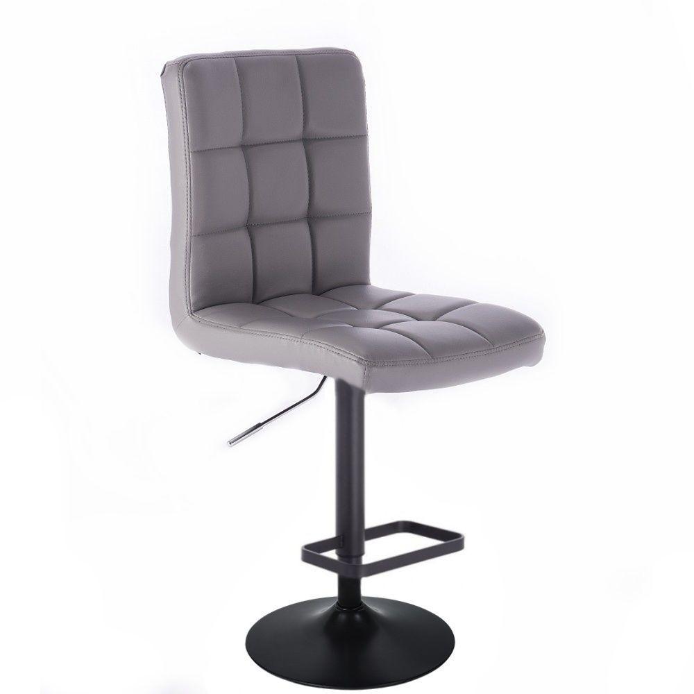 Barová židle TOLEDO na černém talíři - šedá