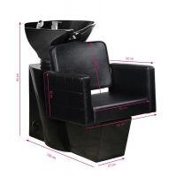 Kadeřnický mycí box GABBIANO ANKARA černý, černá mísa