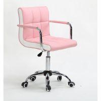 Křeslo na kolečkách HC-811K růžové (V)