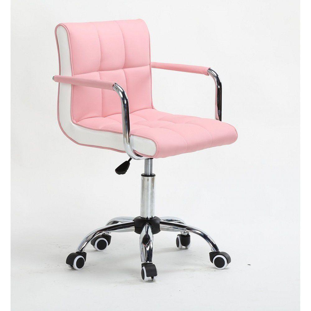 Křeslo na kolečkách HC-811K růžové