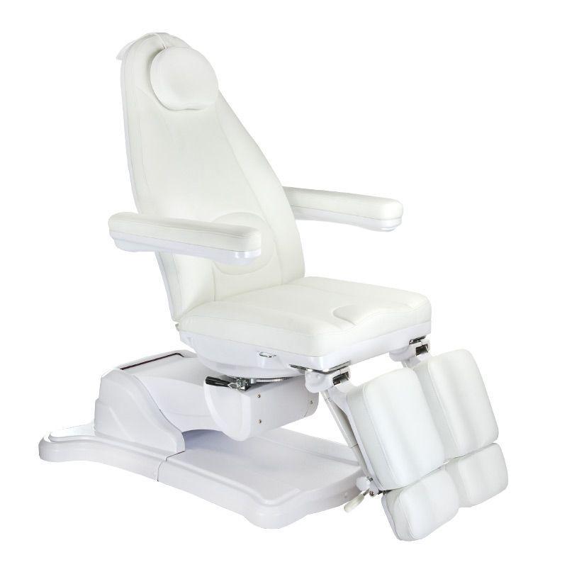 Elektrické křeslo kosmetické BR-6672C bílé