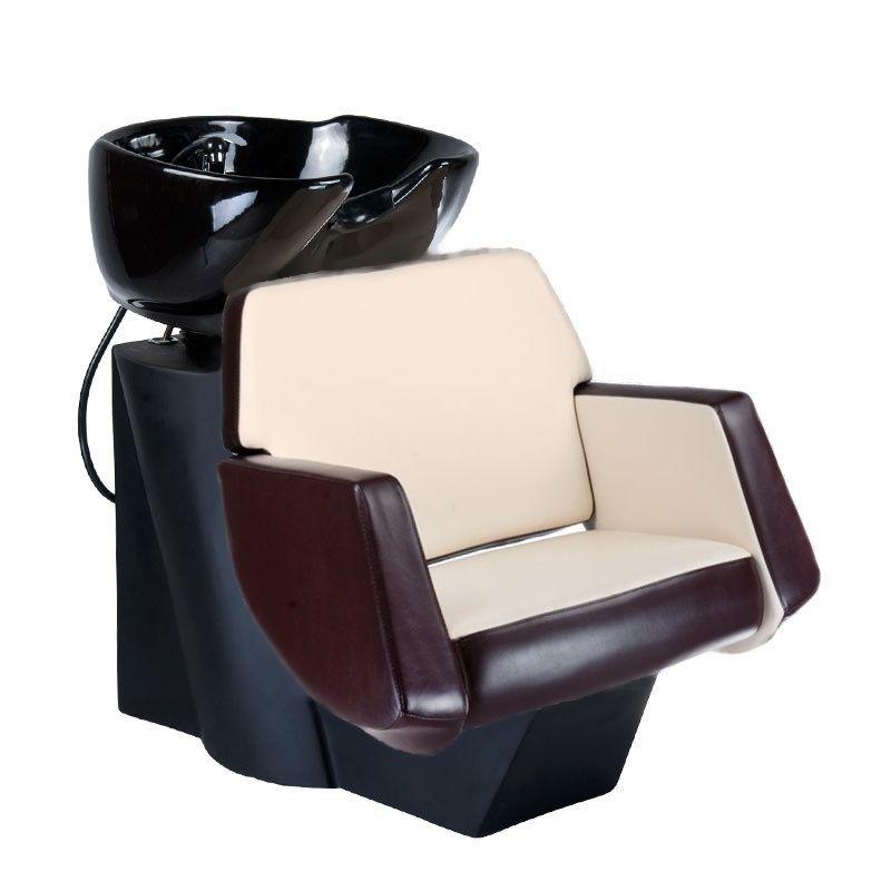 Kadeřnický mycí box NICO BD-7821 hnědo-béžový