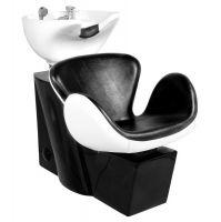 Kadeřnický mycí box GABBIANO AMSTERDAM černo-bílý (AS)
