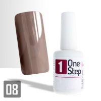 One Step gel UV/LED 3v1 světle hnědý 15ml (A)