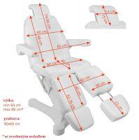 Elektrické pedikérské křeslo A-207C PEDI bílé (5 motorů)