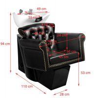 Kadeřnický mycí box GABBIANO BERLIN 906 černý