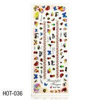 Vodolepky na zdobení nehtů - velký list 12,7 x 5,5cm HOT-036 (A)