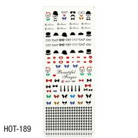 Vodolepky na zdobení nehtů - velký list 12,7 x 5,5cm HOT-189 (A)