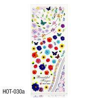 Vodolepky na zdobení nehtů - velký list 12,7 x 5,5cm HOT-030a (A)