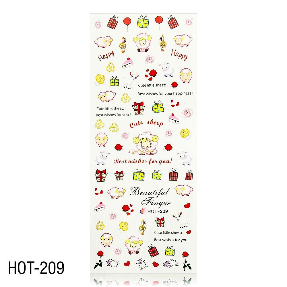 Vodolepky na zdobení nehtů - velký list 12,7 x 5,5cm HOT-209