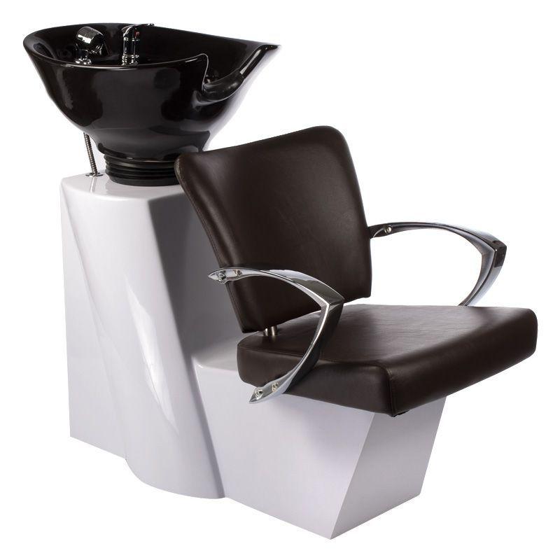 Kadeřnický mycí box LIVIO BD-7822 hnědý varianta B
