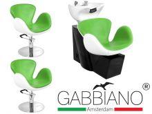 Kadeřnický set 2+1 GABBIANO AMSTERDAM bílo-zelený (AS)