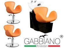 Kadeřnický set 2+1 GABBIANO AMSTERDAM oranžový (AS)