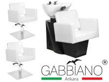 Kadeřnický set 2+1 GABBIANO ANKARA bílý (AS)
