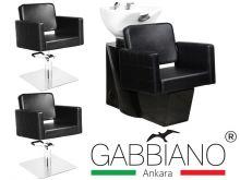 Kadeřnický set 2+1 GABBIANO ANKARA černý (AS)