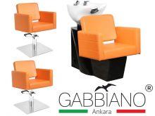 Kadeřnický set 2+1 GABBIANO ANKARA oranžový (AS)