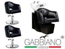 Kadeřnický set 2+1 GABBIANO LIZBONA černý