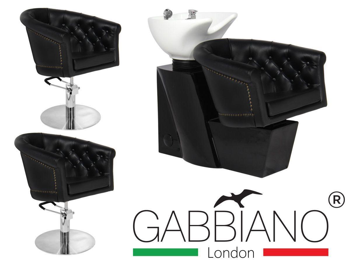 Kadeřnický set 2+1 GABBIANO LONDON černý