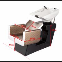 Kadeřnický mycí box GABBIANO TURIN hnědo-béžový