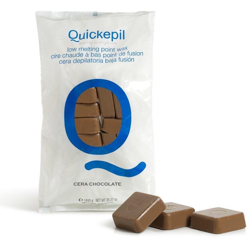 Tvrdý vosk na depilaci QUICKEPIL čokoláda 1kg