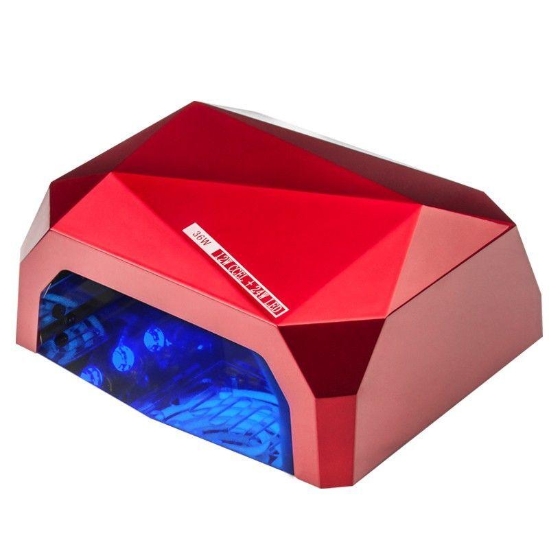 UV LED + CCFL lampa DIAMOND 2v1 36W TIMER + SENSOR červenáUV LED + CCFL lampa DIAMOND 2v1 36W TIMER + SENSOR červená