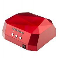 UV LED + CCFL lampa DIAMOND 2v1 36W TIMER + SENSOR červená