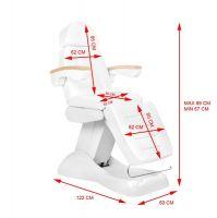 Elektrické kosmetické křeslo LUX bílé / buk 3M
