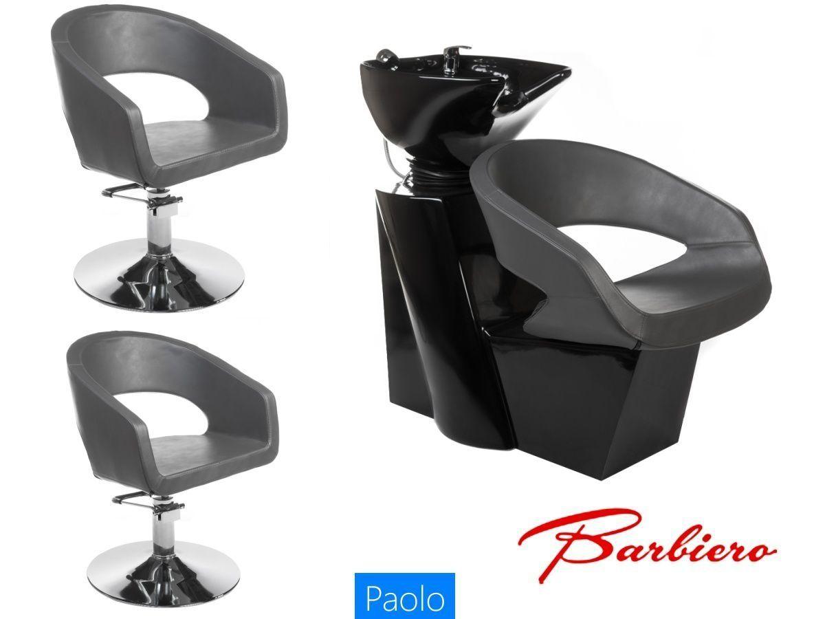 Kadeřnický set 2+1 PAOLO šedý