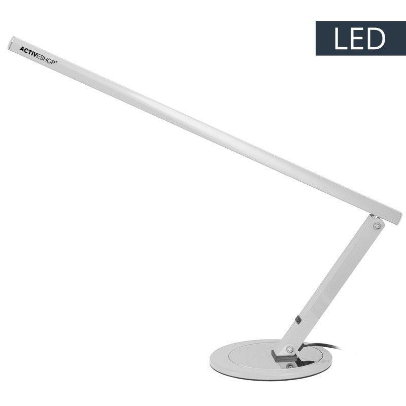 Stolní lampa SLIM LED stříbrná