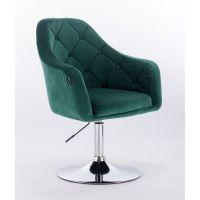 Křeslo HR831 zelené - textilní (V)