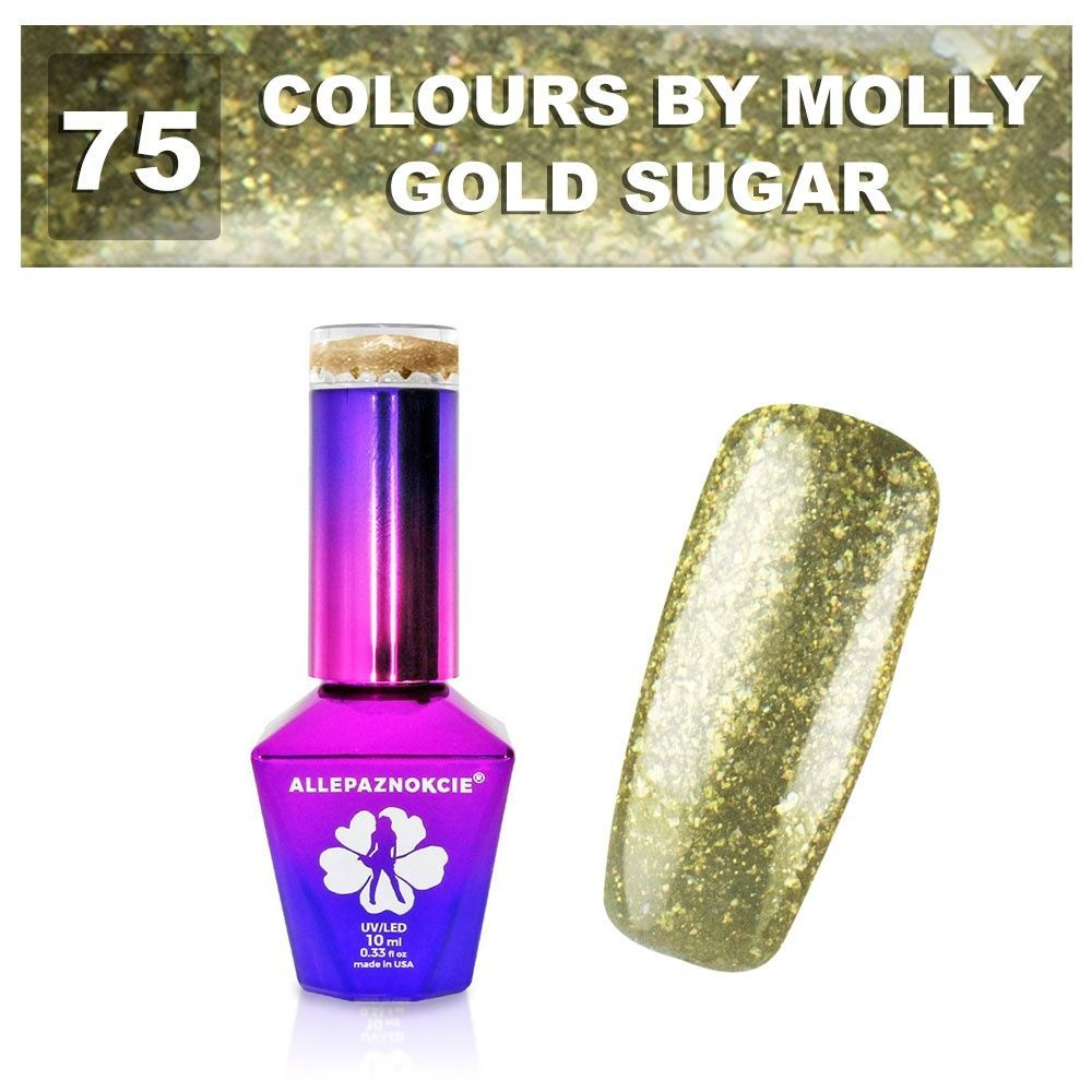 Gel lak Colours by Molly 10ml - Gold Sugar