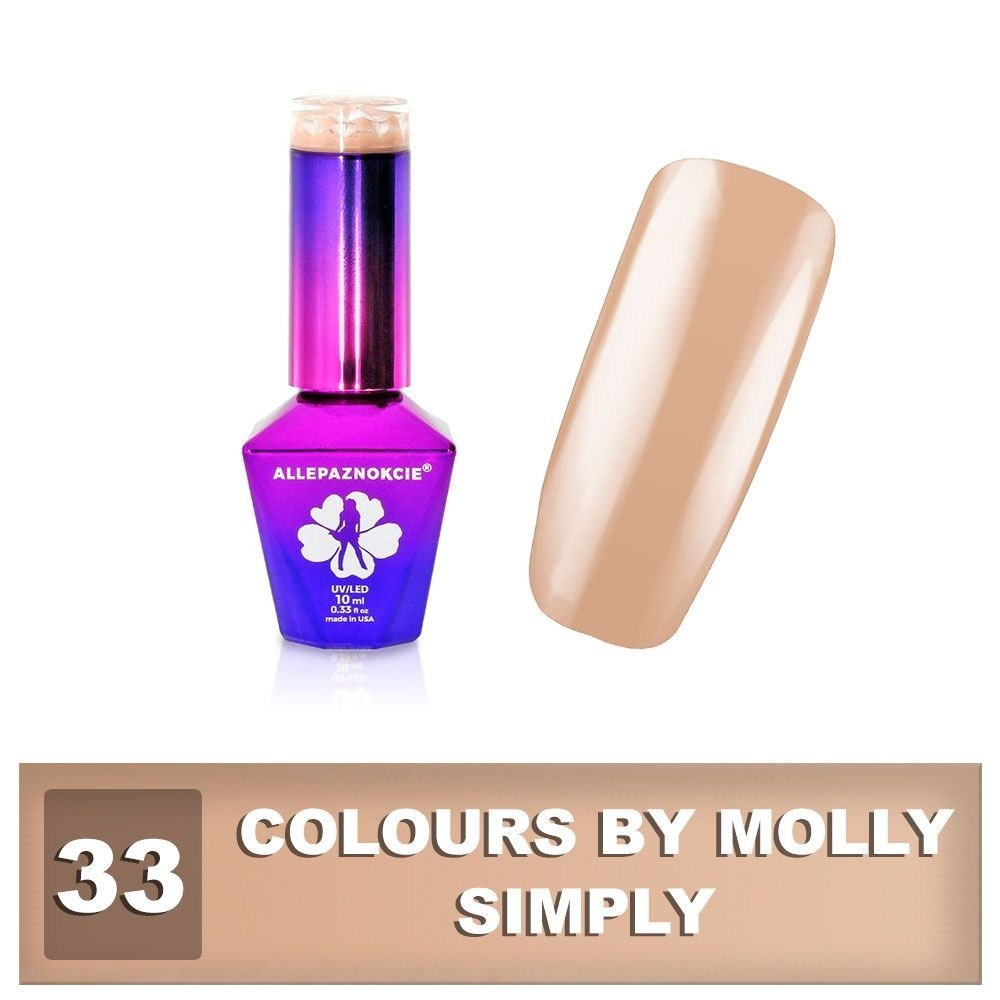 Gel lak Colours by Molly 10ml - Simply