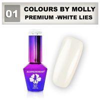 01 Gel lak Colours by Molly PREMIUM 10ml -WHITE LIES- (A)