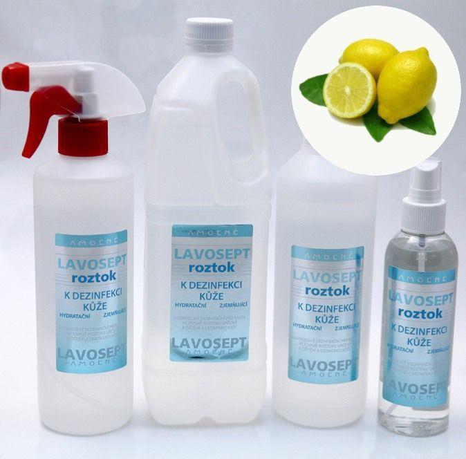 Lavosept® roztok - dezinfekce 200 ml sprej - citronové aroma