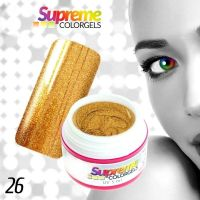 UV gel SUPREME COLORGEL 26 - zlatý metalický 5ml (A)