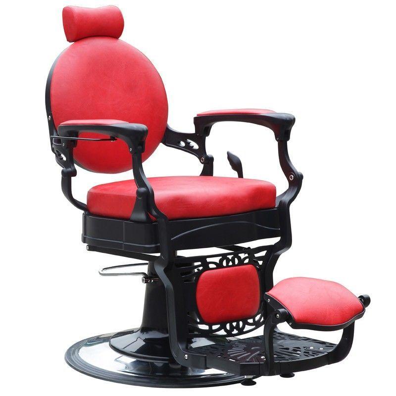 Barbers - holičské křeslo GABBIANO PRESIDENT červené
