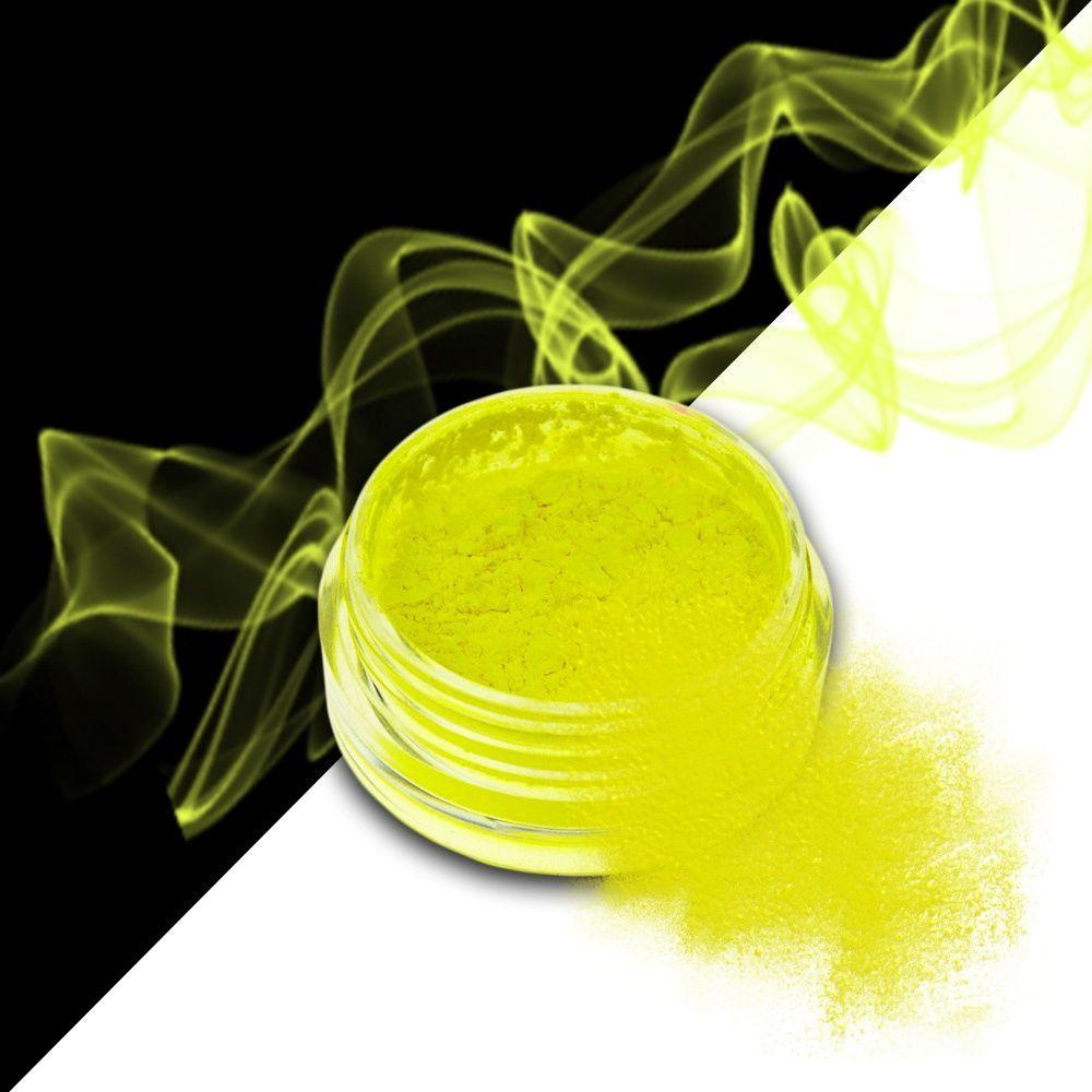 Nehtový pyl SMOKE NAILS - kouřový efekt 03 NEON YELLOW