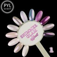 Pyl na zdobení nehtů - Efekt Shimmer Glam 01