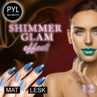 Pyl na zdobení nehtů - Efekt Shimmer Glam 12
