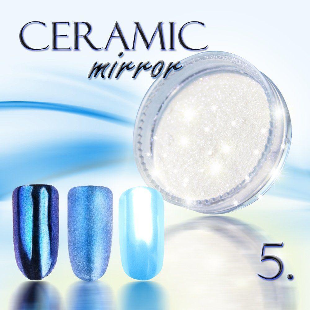 Zdobící prášek na nehty CERAMIC MIRROR - 5. Blue