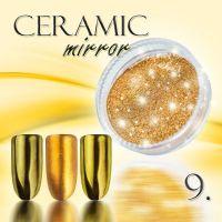 Zdobící prášek na nehty CERAMIC MIRROR - 9. Golden Bronze (A)