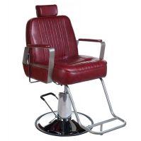 Barbers - holičské křeslo HOMER BH-31237 červené LUX (BS)