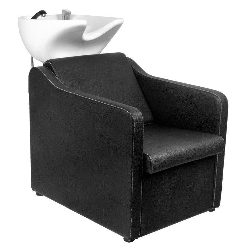 Kadeřnický mycí box GABBIANO BARCELONA - černý