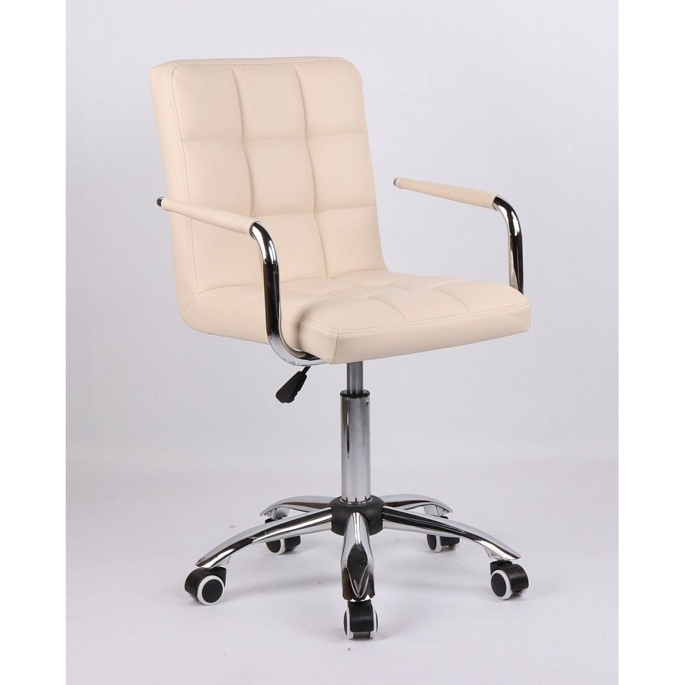 Židle na kolečkách HC-1015KP krémová